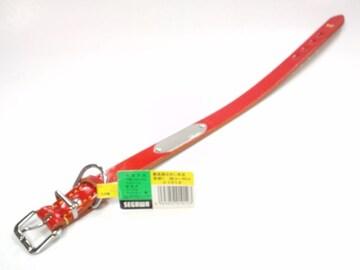 送円15kg20kg25kg#1012愛犬首輪最高級なめし本皮首まわり~44cm赤