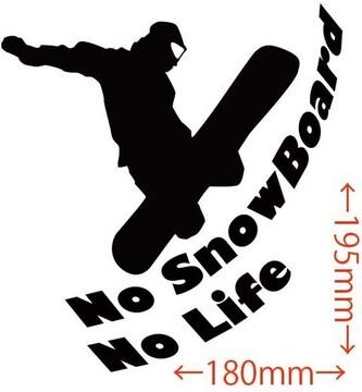 ステッカー No SnowBoard No Life (スノーボード)・5
