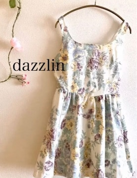 dazzlin ダズリン ボタニカル柄  花柄ワンピース