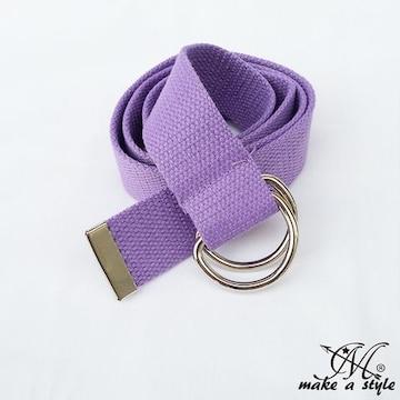 D-RING Dリング ダブルリング キャンバス ベルト パープル 328紫