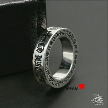 送料無料27号クロムシルバーファックユースペーサーリング指輪