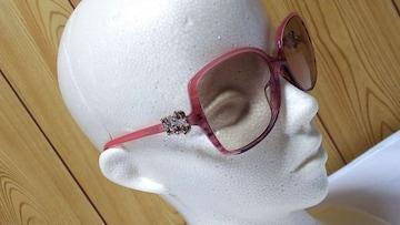 正規 限定 ブルガリ ビジュー装飾2連カメリアサングラス グラデーションピンク メガネ