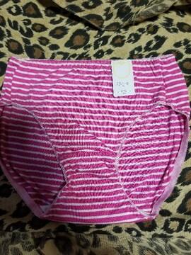 レディース ショーツ ピンク色ボーダー柄 Mサイズ