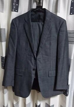 伊勢丹購入 ストライプ スーツ 美品 グレー