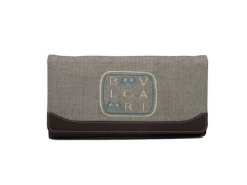 正規ブルガリ長財布レディース財布刺繍ロゴレオーニブ