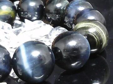 ブルータイガーアイ14ミリ鷹目石数珠