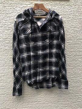 LGB ルグランブルー チェックシャツGパーカー 0