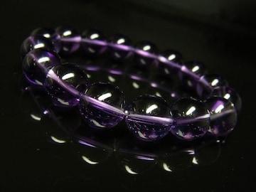 幸運の鍵を握る 紫水晶アメジストブレスレット 12mm数珠パワーストーン