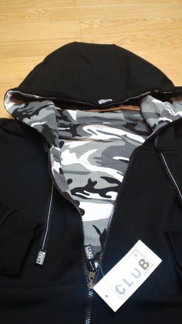 LA直輸入!PROCLUB迷彩リバーシブルジップパーカー黒シティカモ サイズ3XL < 男性ファッションの