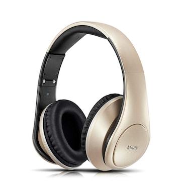 密閉型 Bluetooth ヘッドホン 高音質 ゴールド