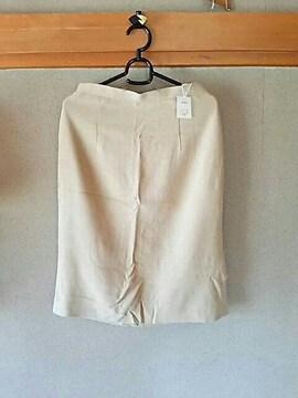 新品 スカート ウエスト67 黄ベージュ