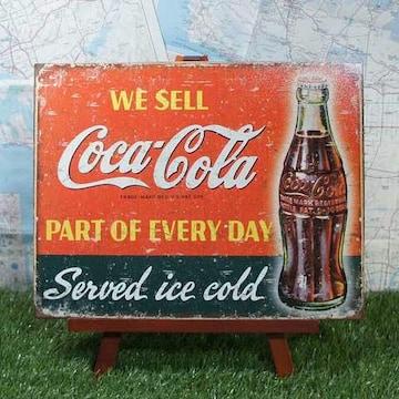 新品【ブリキ看板】Coca-Cola/コカ・コーラ We Sell