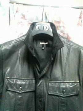 シェラックshellacレザーシャツジャケット44黒