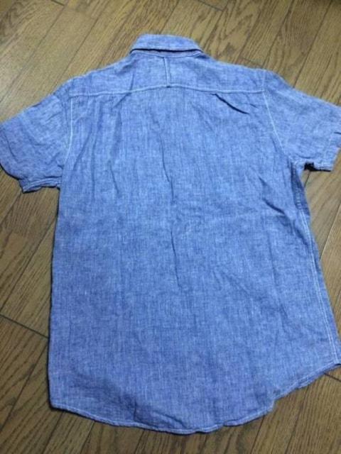 美品CIAO PANIC デザインシャンブレーシャツ チャオパニック < ブランドの