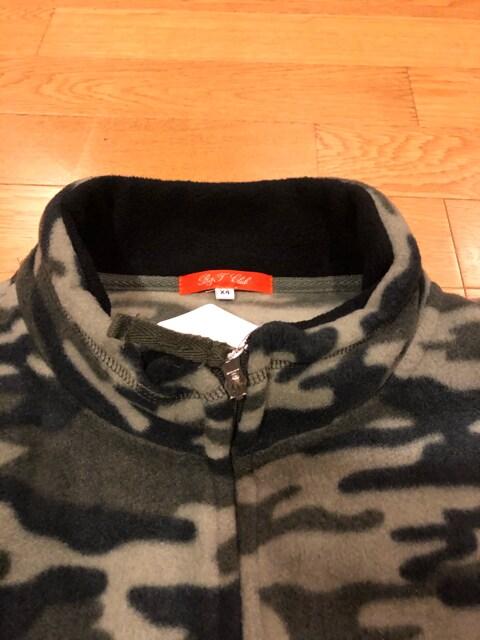 B&T CLUB  迷彩柄フリースジャケット  超大きいsize4XL < 男性ファッションの