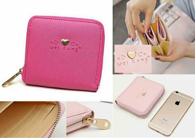 財布 レディース財布 ローズレッド コンパクトサイズ 新品 < 女性ファッションの