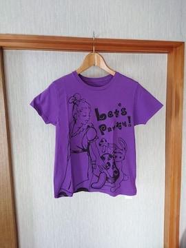 美品 Disney 不思議な国のアリス  紫  Tシャツ M S