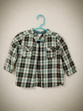 新品!H&M チェックシャツ80