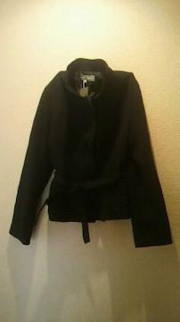 キルティングジャケットベルトコートスタンドカラー11ブラック新品タグ