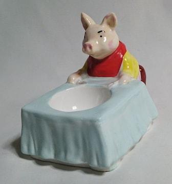 正規限定 TIFFANYティファニー ピッグモチーフ アンティーク陶器 ジュエリーBOX 灰皿