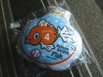 ☆楽天イーグルス Golden Fish デカクッション 岡島豪郎#4☆