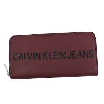 ◆新品本物◆カルバンクラインジーンズ SCULPTED 長財布(RED)K50K504729