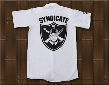 SYNDICATE★ワークシャツ・ギャングスタ★M★白★新品