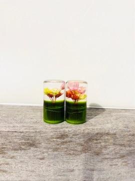 緑 グリーン 水中花エアバルブキャップ  /デコトラ レトロ