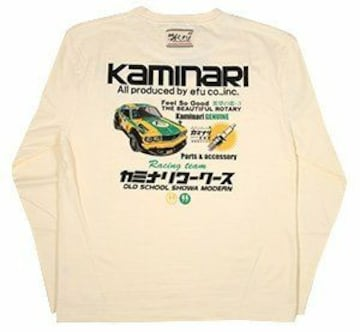 カミナリ雷/サバンナRX-3/ロンT/白/kmlt-154/エフ商会/テッドマン/カミナリモータース