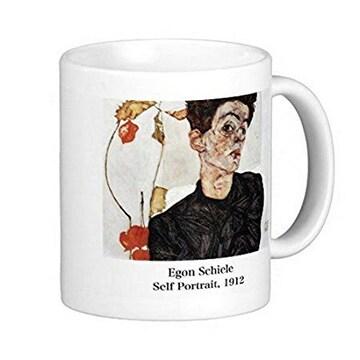 エゴン・シーレ『 自画像 』(1912) のマグカップ(B)