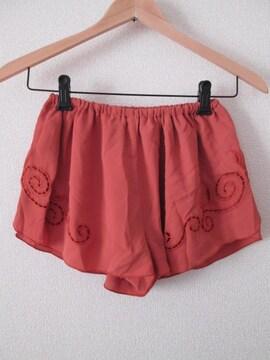 新品即決/リリディア/シフォンフレアショートパンツ/オレンジ/0