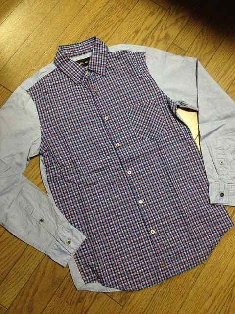 美品BLUE WORK デザインシャツ 日本製 トゥモローランド  < ブランドの