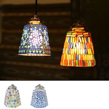 モザイクランプ 六角 シーリングライト アジアン 間接照明