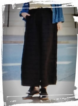 *tukuroi by SUN VALLEY*リネンワイドパンツ 新品 ブラック 8532円