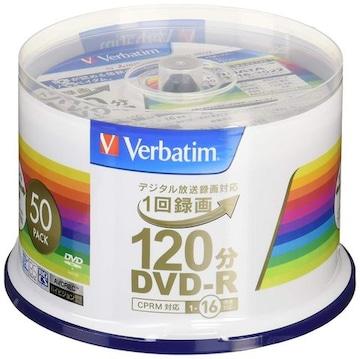 1回録画用DVD-R(CPRM) VHR12JP50V4 (片面1層/1-16倍速/50枚)
