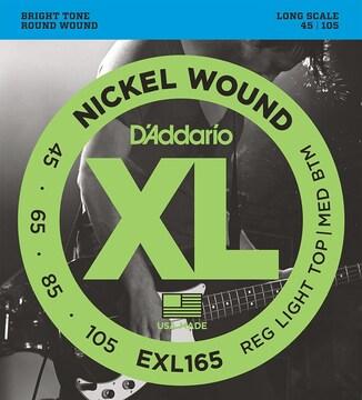 ダダリオ ベース弦 ニッケル Long Scale .045-.105 EXL165
