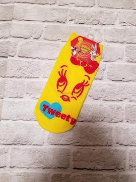 新品◆TWEETY◆黄×赤リボン スニーカーソックス トゥイーティー