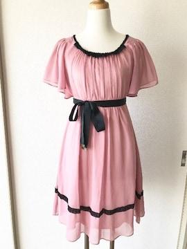 [JAYRO]★ピンクカラー・半袖ワンピース・結婚式ドレス★