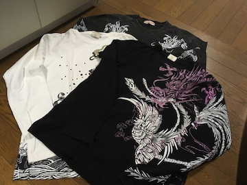 和柄長袖Tシャツ☆3枚