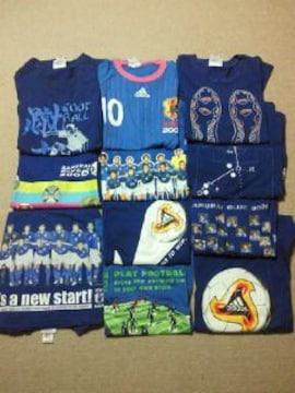 キリン サッカー 日本代表 adidas アディダス Tシャツ 勝ちT 11枚セット ブルー