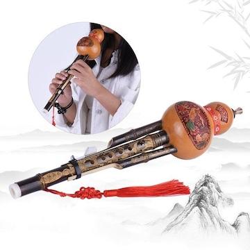 竹製 フルート ひょうたん 楽器 音楽 インテリア