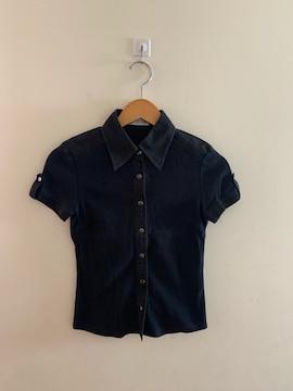 22OCTOBRE 半袖黒シャツカットソー USED サイズS
