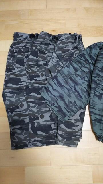 新品3L迷彩柄半端丈パンツまとめ売り < 男性ファッションの