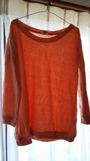 ユニクロ ★ピンクコットンニット  < 女性ファッションの