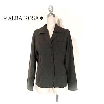 アルバローザ*ストレッチシャツ*テーラードジャケット