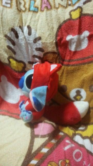 ディズニー スティッチ 赤いキツネ着ぐるみ ぬいぐるみ < おもちゃの