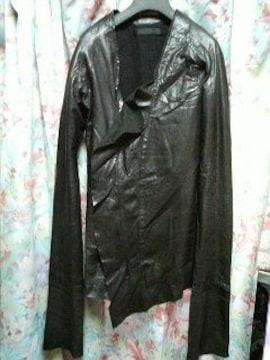 エカムekamレザージャケットSドレープコート