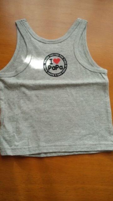 ノースリーブシャツ 新品 IPaPa IMama 90 < キッズ/ベビーの