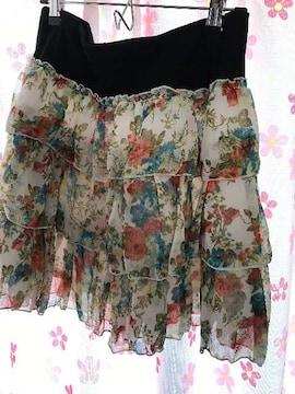 花柄スカート 新品 LLサイズ