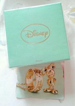 非売品ディズニー ミッキーとミッキーの顔形の指輪とネックレス